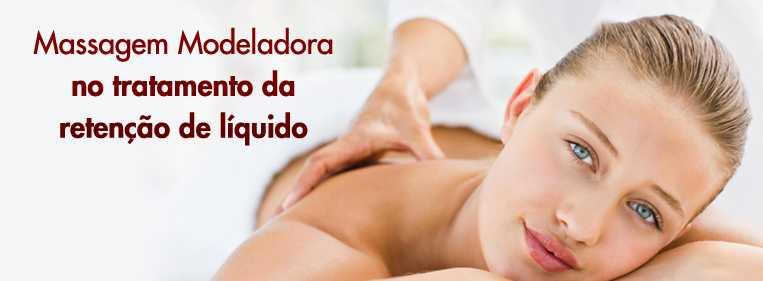 retenção líquido massagem modeladora