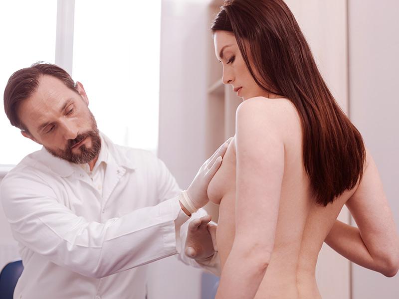 assimetria entre mamas