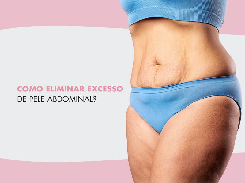 mulher com excesso de pele na barriga