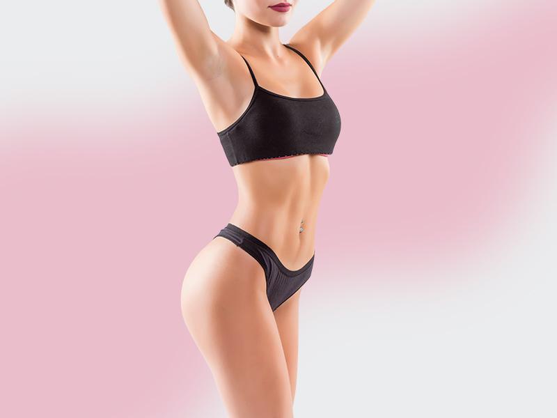mulher abdominoplastia lipo