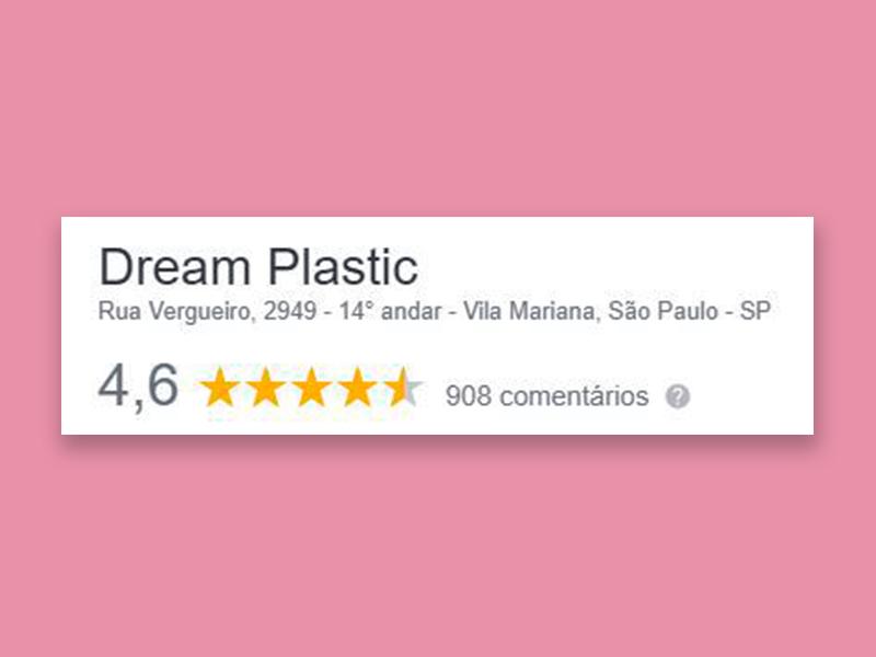 Google elogios dream plastic